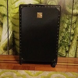 NWT Vince Camuto Designer Black Hardshell Luggage